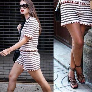 Zara Frayed Hem Shorts